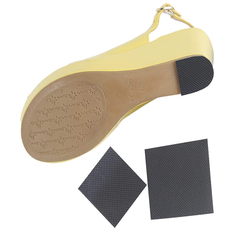 1Pair Stick-on Friction-reducing Dance Soles for ,Can Be Cut Self-Adhesive Non-Slip High-Heeled Shoes Sole Protector Pads Sticker