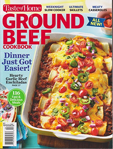 Taste of Home Ground Beef Cookbook Magazine Spring 2017 (Best Pepperoni Roll Recipe)