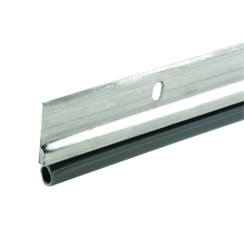 Prime-Line MP4685 Jamb Weatherstrip, 36 x 84-Inch, Aluminum and Vinyl Construction, Satin Nickel, 1 Kit