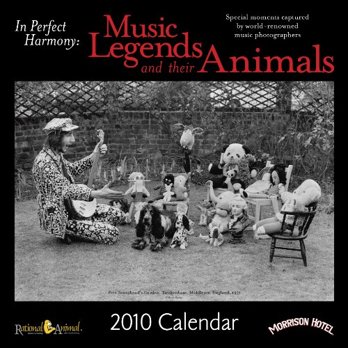 Music Legends and Their Animals - 2010 Wall Calendar (Musicians include: Ian Anderson, Moby, Eric Clapton, Billie Holiday, Michael Jackson, John Lennon, Nile Rodgers, Patti Smith, Stephen Stills, Sting, Roger Waters, Neil Young and Frank Zappa., for volume discounts, please visit our website at www.rational-animal.org/calendar/)