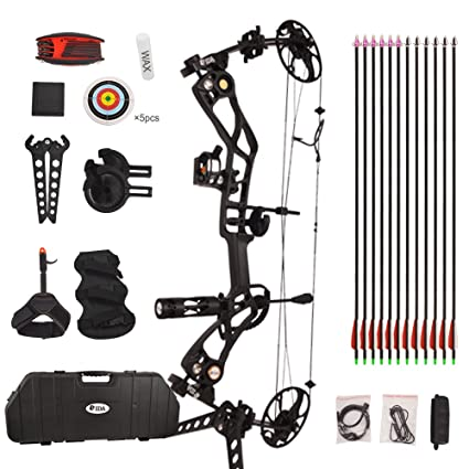 Vidagoods 15lb-70lb Pro Draw Weight 320 FPS IBO Tactical Compound Bow  Package CNC Milled Aluminum