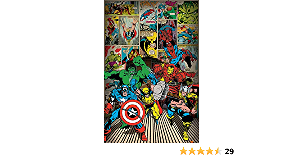 Marvel Comics Poster Here Come The Heroes 61 x 91.5cm