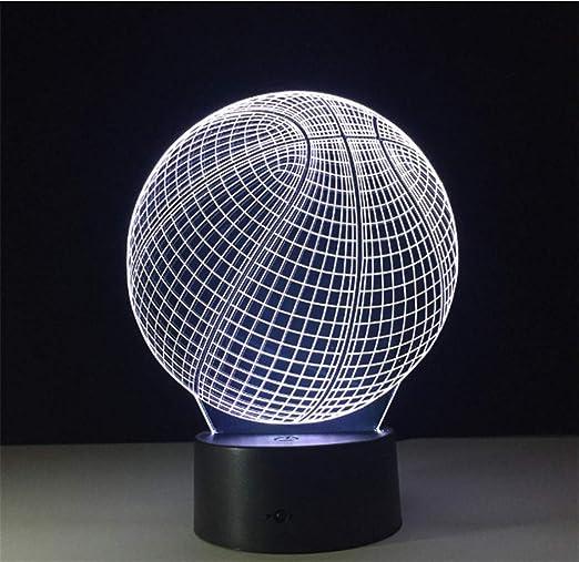 Lámpara de baloncesto 3D Deporte NBA Decoración del hogar ...