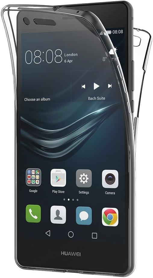Cover Huawei P9 Lite, AICEK 360° Full Body Cover Huawei P9 Lite Silicone Case Molle di TPU Trasparente Sottile Custodia per Huawei P9 Lite (5.2 Pollici)