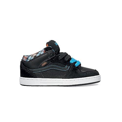 Vans Edgemont de los niños low-top zapatillas, plaid black blue: Amazon.es: Deportes y aire libre