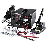 Estacion de soldadura digital SMD Kit del Soldador Eléctrico con pistola de aire 853D
