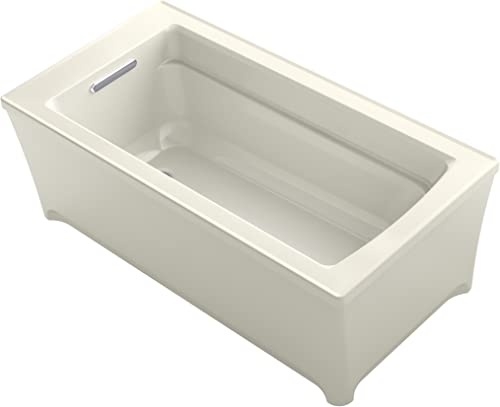 KOHLER K-2592-96 Archer 62 In. x 32 In. Freestanding Bath, Biscuit