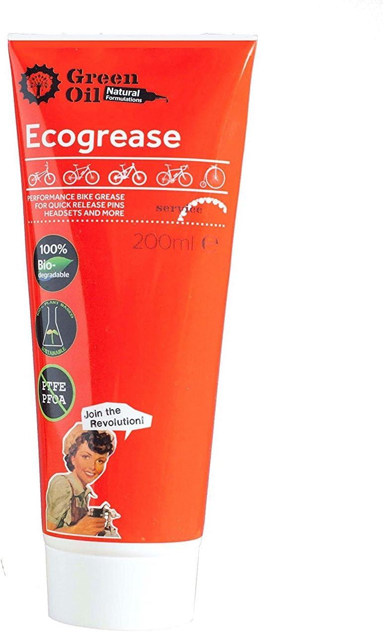 GREENOIL Aceite Verde - Ecogrease Best & Long Lasting Grasa para Bicicleta - Tubo de 200 ML: Amazon.es: Deportes y aire libre