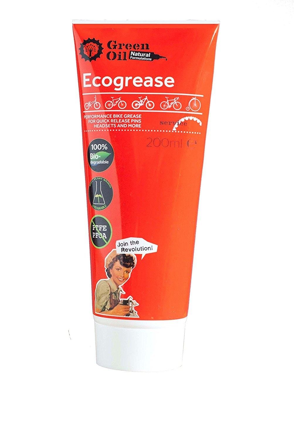 GREEN OIL - Ecogrease Best & Long Lasting Bicycle Grease - 200ML Tube