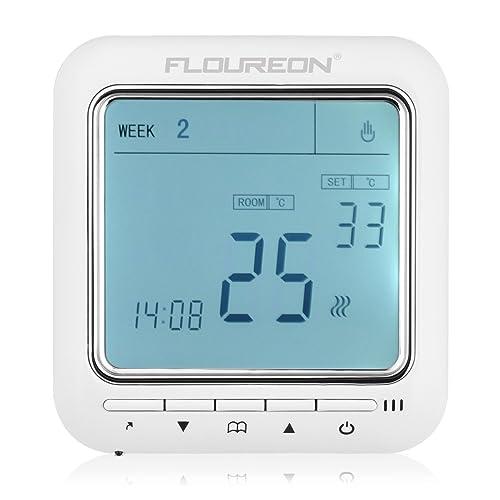 floureon smart wifi thermostat heating thermostat app. Black Bedroom Furniture Sets. Home Design Ideas