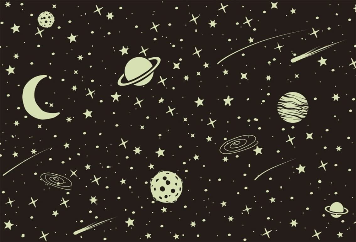 CSFOTO 7x5ft Full Moon and Starry Sky Backdrop Universe Galaxy ...