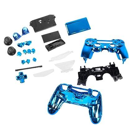 Controller Shell Cover Case Skin Modding Hülle für Sony PS4 Controller Blau