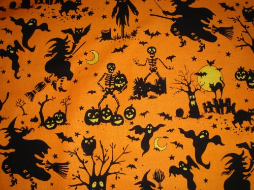 Halloween Party Table Runner Witches, Ghosts, Bats, Black Cats!]()