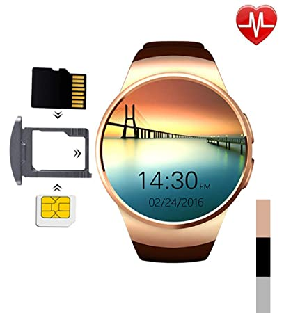 Smart Watch - Touchscreen Bluetooth Water Fitness Fitness Heart Rate Sleep Monitor Tracker SIM Card SD