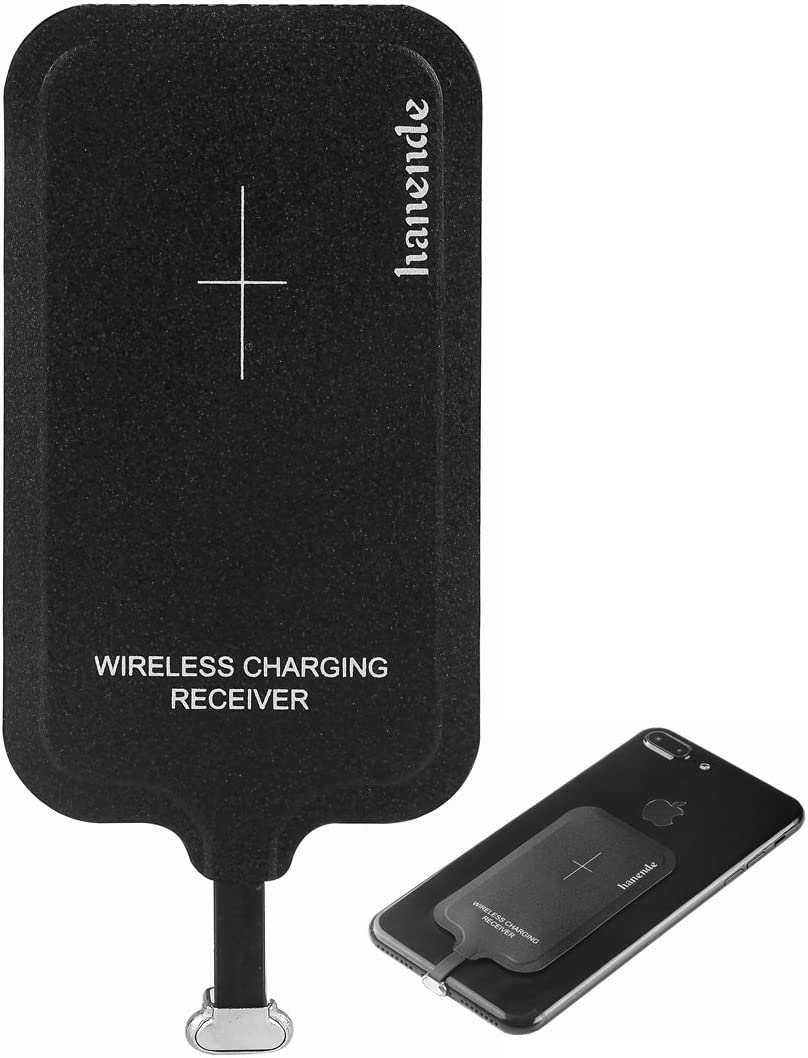 Wireless Charging Receiver for iPhone, hanende Magic Tag Qi Wireless Charger Receiver Patch Module Chip for iPhone 7/6/6S/5/5S/SE/5C