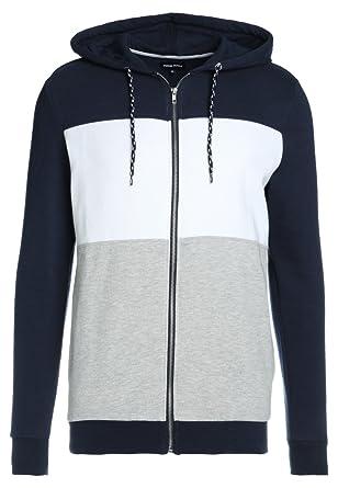 YOURTURN Herren Sweatshirt Jacke mit Kapuze Zip Hoodie für