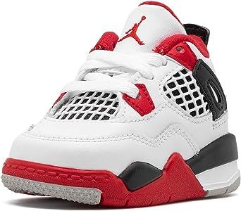 Amazon.com | Jordan Toddler 4 Retro (Td) Fire Red 2020 - White ...