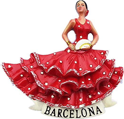 MUYU Magnet 3D Flamingo Barcelona España imán para Nevera ...