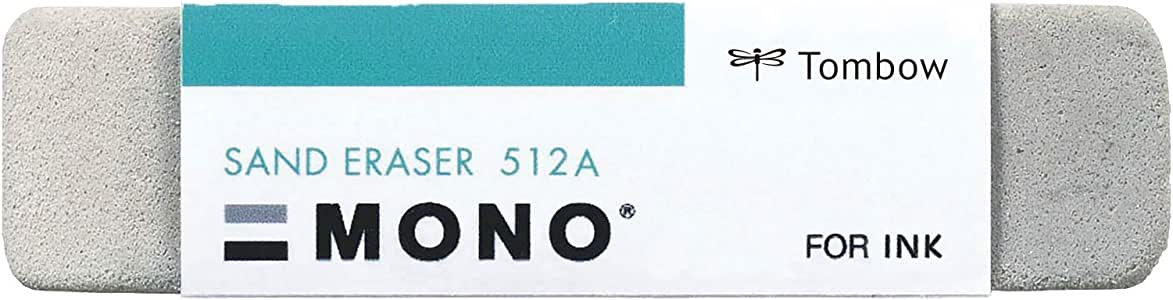 Tombow 57304 Mono Sand Eraser, Silica Eraser Designed to Remove Colored Pencil and Ink Markings…