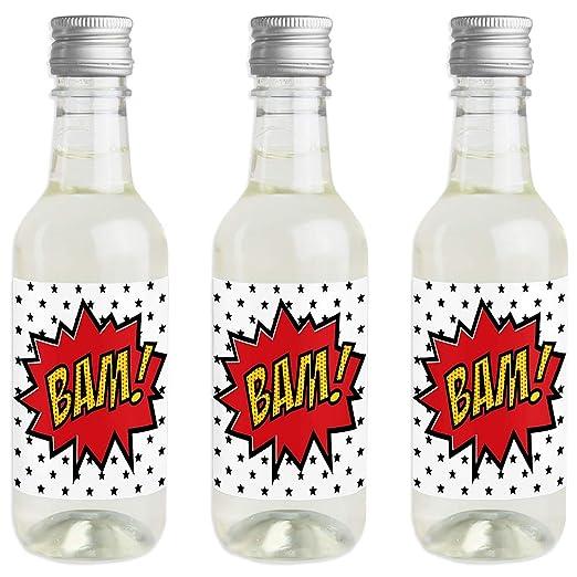 BAM! Pegatinas para botella de vino y champán, diseño de ...