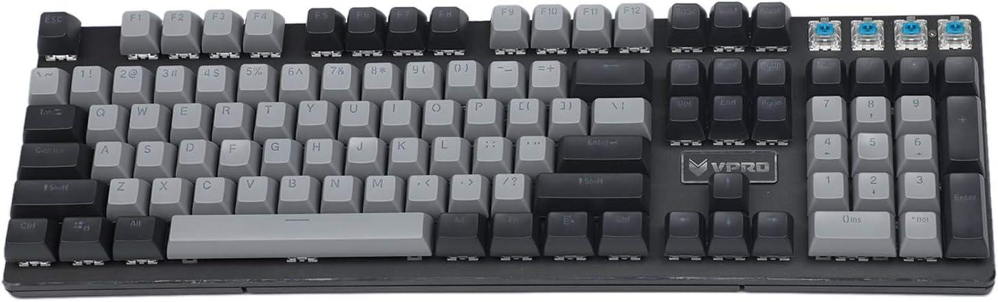 104 teclas SA perfil doble de disparo a través de PBT con forma de bola adecuado para teclado estándar MX 104 87 61 Negro Gris Mixto