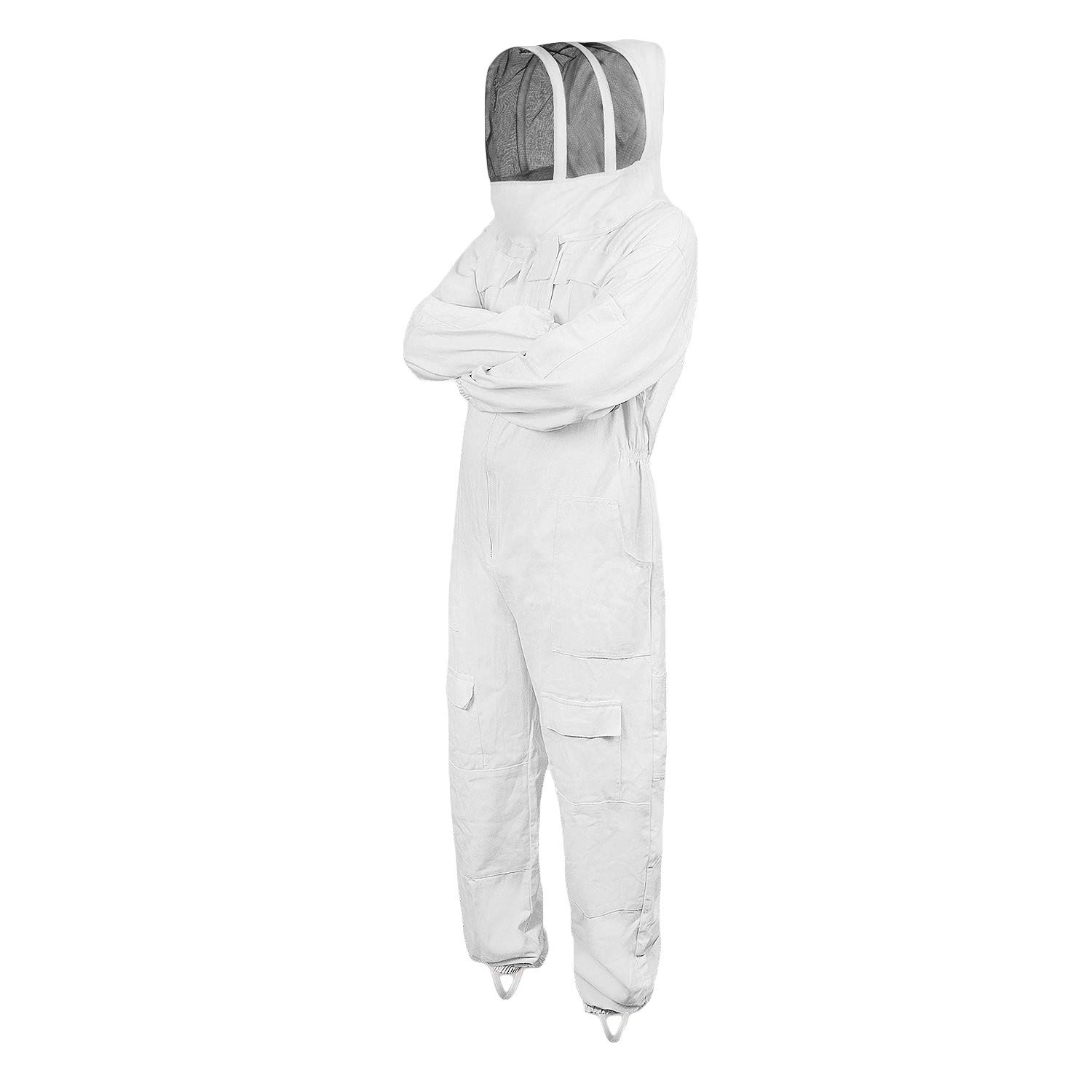 Zimco Cycle wear Full Beekeeping Suit Protective Beekeeper with Veil Pest Control Bee Costume (Medium) by Zimco Cycle wear