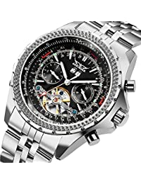 Classic Multi Functional Automatic Mechanical Watch Luminous Tachymetre Black Face