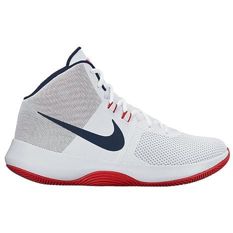 Zapatillas de baloncesto Nike Air Precision para hombre nuevas, blanco / rojo / azul 7
