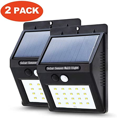 4 x Solar Power 8 LED PIR Motion Sensor Wall Security Light Lamp Garden Outdoor