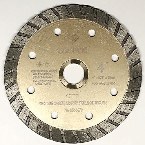 ALSKAR DIAMOND ADLSC 4 inch Dry or Wet Cutting General Purpose Continuous Turbo Power Saw Diamond Blades for Concrete Masonry Brick Stone (4
