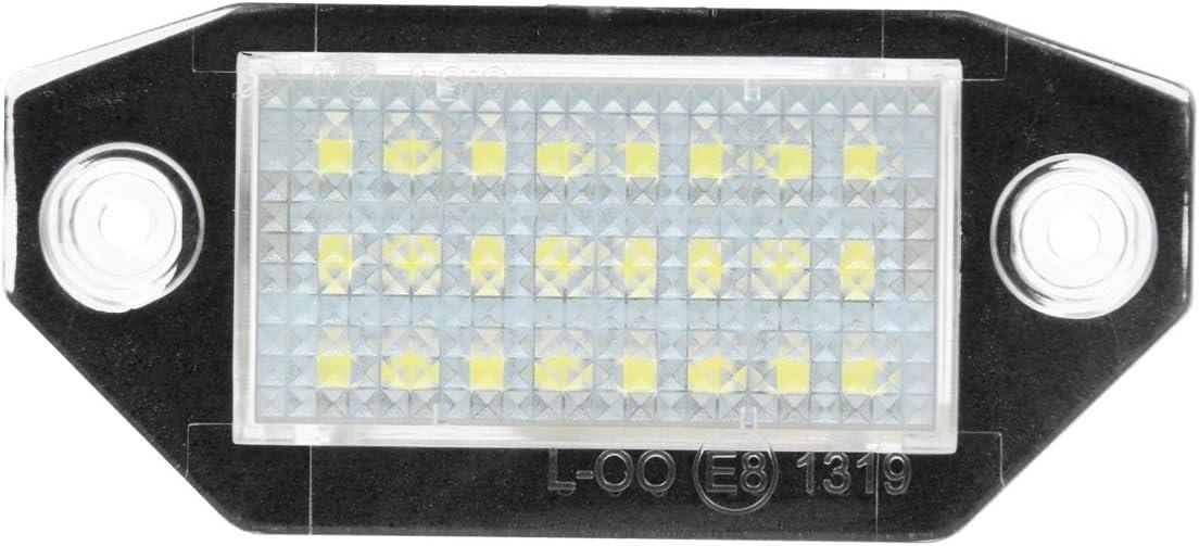 LED Kennzeichenleuchte mit Zulassung Nummernschildbeleuchtung Plug /& Play 6000K Xenon Wei/ß Canbus ECD Germany 2 x LED Kennzeichenbeleuchtung mit E-Pr/üfzeichen Fehlerfrei