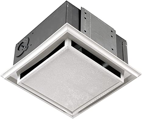 Broan Nutone 682 Duct Free Ventilation Fan White Square Ceiling Or Wall Exhaust Fan With Plastic Grille Built In Household Ventilation Fans Amazon Com