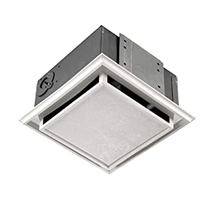 Broan 682 Duct-Free Ventilation Fan with Charcoal Filter, White Plastic-Grille