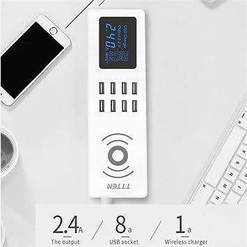 Zyx QI Cargador USB Inalámbrico 8 USB Teléfono Móvil ...