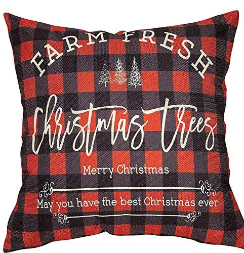 Plaid Christmas Pillows.Dozili Farm Fresh Buffalo Plaid Christmas Tree Pillow Cover Christmas Pillows Pillow Cover Holidays Christmas Pillows Gifts