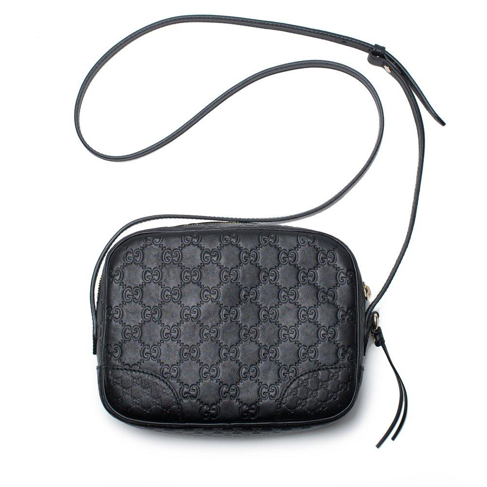 bf0197af90c627 Amazon.com  Gucci Bree GG Supreme Camera Case Black Leather Bag Handbag  Authentic Italy New  Shoes