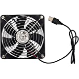 ELUTENG USB Ventola di raffreddamento 120mm per PC Silenziosa USB Fan per cabinet Router PC PS4 PS3 Xbox Router Water