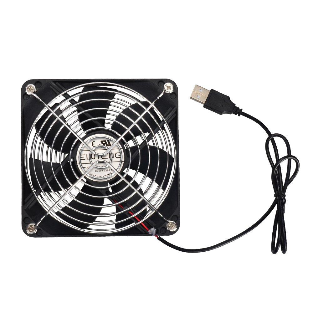 ELUTENG Lüfter USB 120mm Gehäuselüfter mit Mini Ventilator DC 5V Fan ...