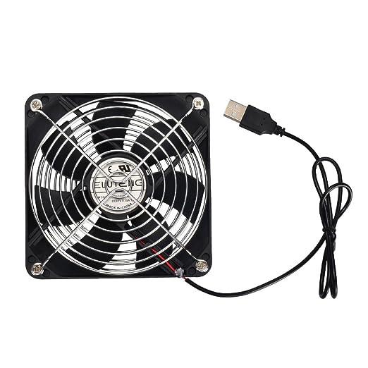 47 opinioni per ELUTENG 12cm USB Ventola di raffreddamento 120mm per PC Silenziosa USB Fan per