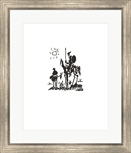 Amazon.com: Don Quixote - Embossed by Pablo Picasso Framed Art Print ...