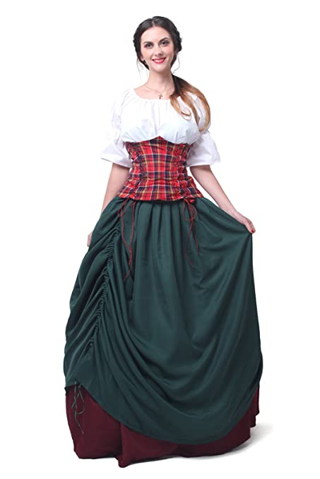 Renaissance Serving Wench Peasant Women Costume Dresses ...