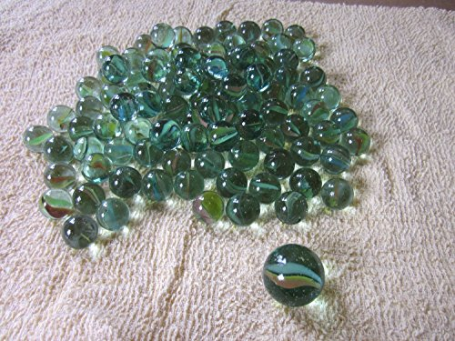 JMK 100 pcs Glass Marbles with Shooter