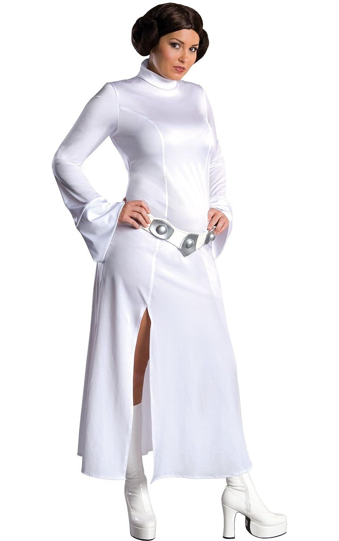 Amazon.com: Star Wars Secret Wishes Princess Leia Costume, White ...