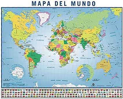 Erik MPGE0072 - Mini Póster Mapa Del Mundo: Amazon.es: Oficina y ...
