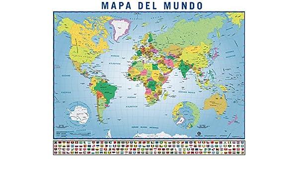 Mini World Map.Amazon Com Grupo Erik Editores Mpge0072 Mini World Map Poster