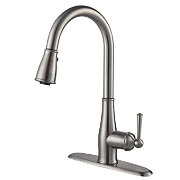 Kitchen Faucet Brushed Nickel Aosgya Single Handle Kitchen Sink