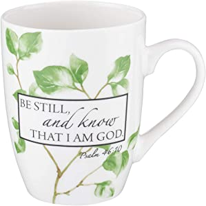 Be Still and Know Psalm 46:10 Ceramic Christian Coffee Mug for Women and Men - Inspirational Coffee Cup and Christian Gifts (12-Ounce Ceramic Cup)