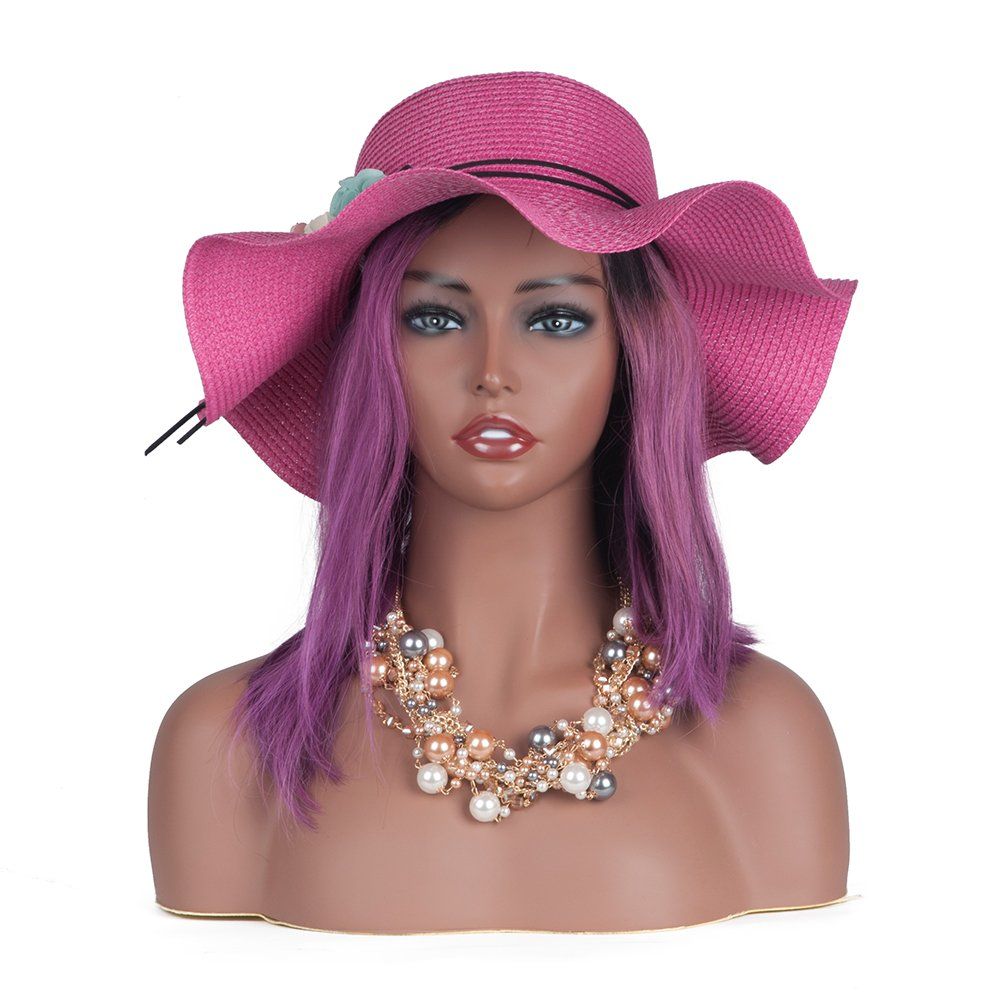L7 Mannequin Black Female Mannequin Manikin Head Bust for Wig Display