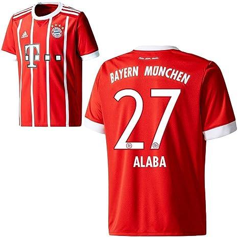 8681b05e5613c8 adidas FC Bayern München FCB Kinder Home Trikot 2017 2018 David Alaba 27 Gr  128
