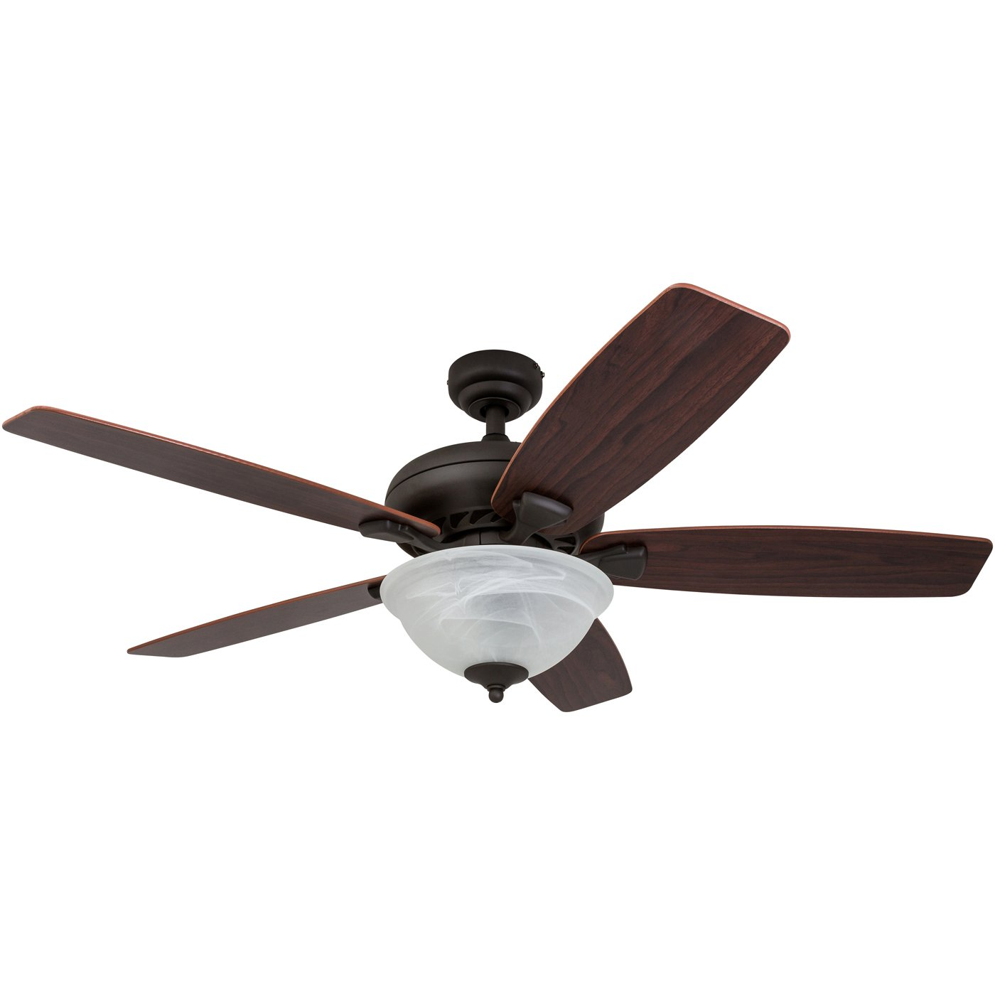 Prominence Home 52-inch Gatlinburg Indoor Ceiling Fan with Remote Control, Reversible Blades, Bronze (2017 Model)